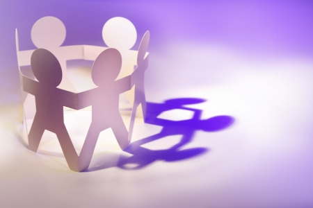 Group of people holding hands in a circle Stock Photo - 14028469