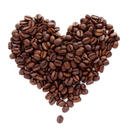 Coffee beans in shape of heart Stock Photo - 14091644