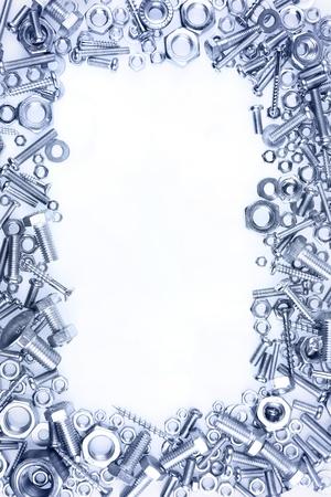 tuercas y tornillos: Tuercas y tornillos de fondo liso