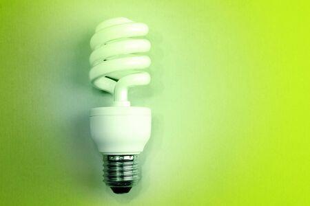 save electricity: Power saving light bulb closeup Stock Photo