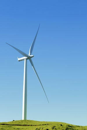 Wind turbine on wind farm photo