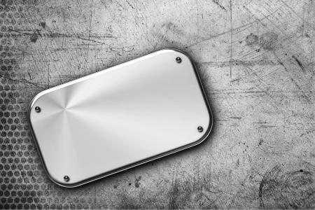 steel plate: Steel plaque on grunge background