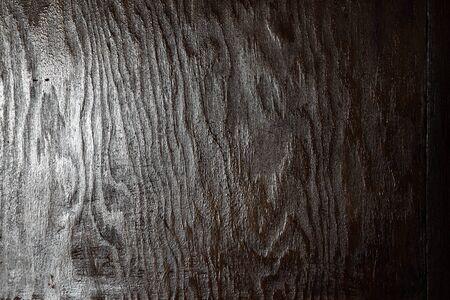 black wood texture: Closeup of dark grungy background Stock Photo