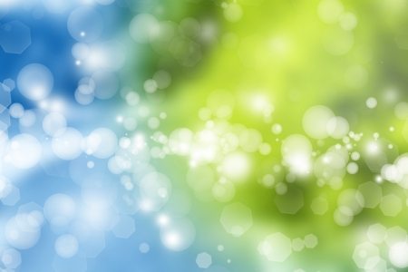 blurry lights: Abstract blue and green tone background Stock Photo