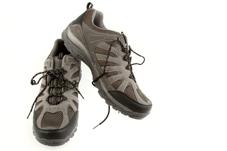 Pair of running shoes on plain background Stock Photo - 14435954