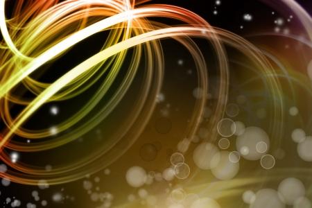 streak: Bright swirly lines on dark background