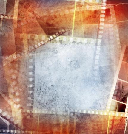 negatives: Grungy film negative background, copy space