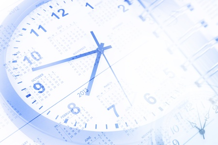 Clock and calendar page numbers Stock Photo - 14492790