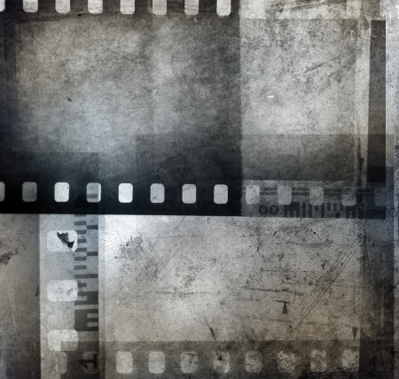 Film negatives overlapping, black and white Stock Photo - 14536141