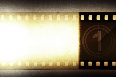 Grungy film negative background, copy space Stock Photo - 14536136