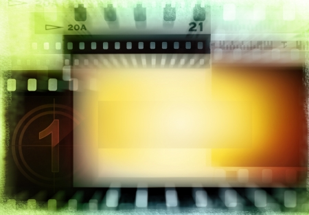 Grungy film negatives background. Copy space Stock Photo - 14536137