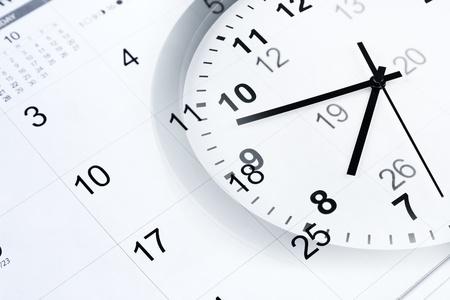 stipt: Klok en kalender pagina