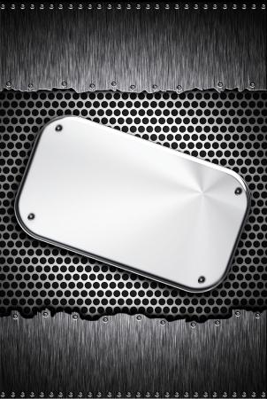 plating: Steel plate on metal background