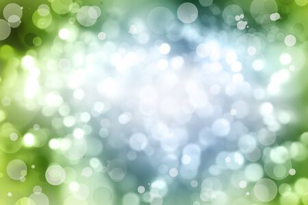 Circles of light on green and blue background photo