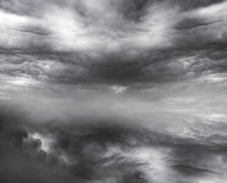 Dark ominous clouds  Dramatic sky background photo