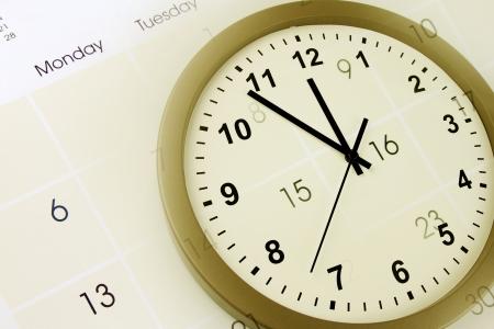 composite: Cara de reloj y calendario compuesto p�gina