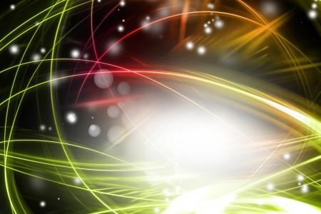 efectos especiales: Swirly líneas y círculos en el espacio oscuro Copia fondo