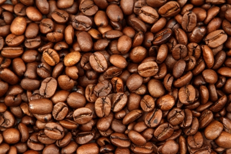 coffee bean: Closeup of roasted coffee beans Stock Photo