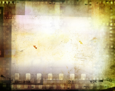 cinema background: Film negatives frame, copy space Stock Photo