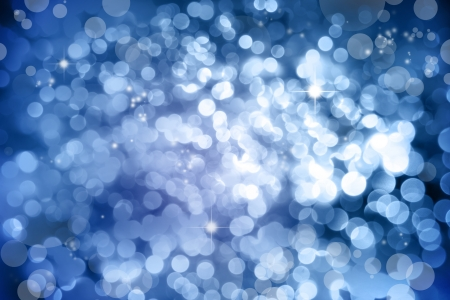 Stars on abstract blue space background photo