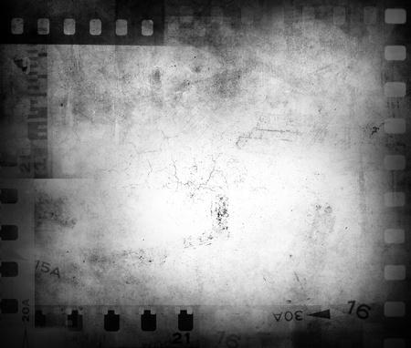 macro film: Film negatives frame, copy space Stock Photo