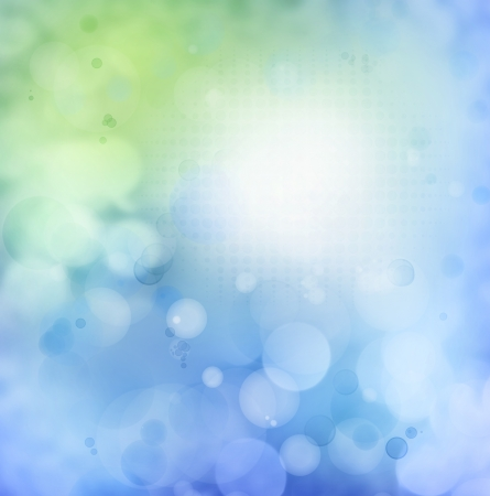 Circles on green and blue background  Copy space Stock Photo - 15086424