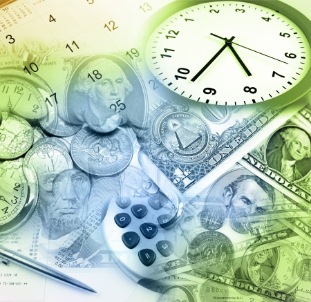 time money: Time is money concept Stock Photo
