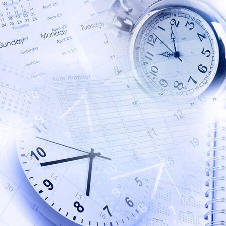 gestion del tiempo: Caras del reloj, calendarios y p�ginas de diario