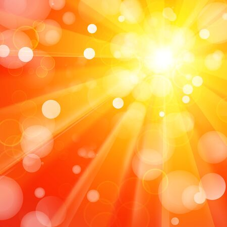sunbeam: Bright yellow and orange abstract background