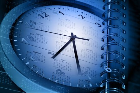 Clock face and calendar page Stock Photo - 15299121