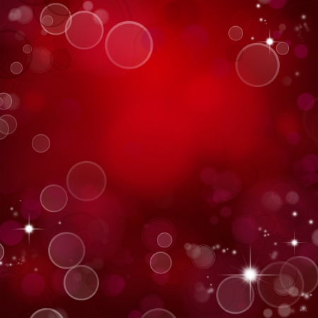 Circles and stars on red background
