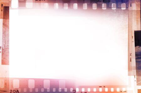 cinema film: Film negatives frame, copy space Stock Photo