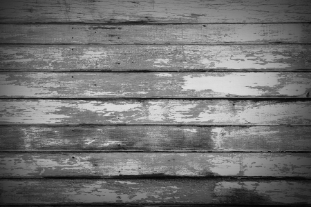 flaked: Closeup of grey wooden wall planks Stock Photo
