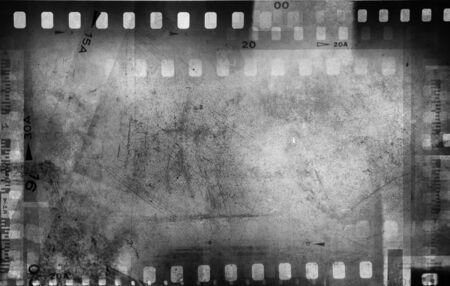 negativity: Film negatives frame, copy space Stock Photo