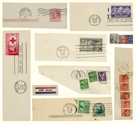 philatelic: Old U S  postage stamps and postmarks