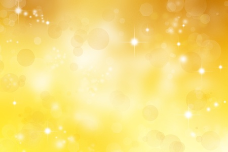 Circles and stars yellow abstract Christmas background photo