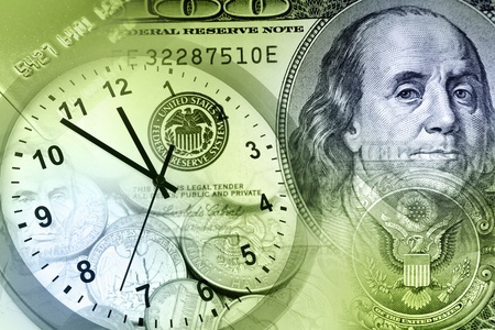 Time is money concept Imagens
