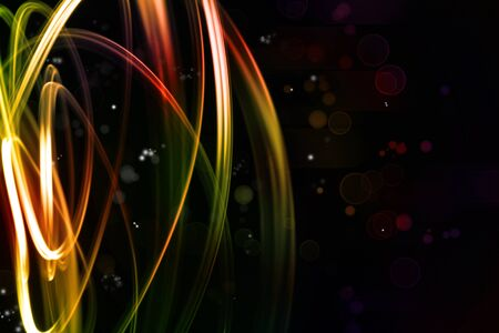 Abstract swirly lines futuristic space background Stock Photo - 15533369