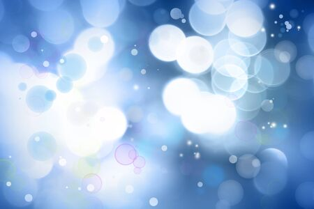 blurred lights: Blue and white abstract background