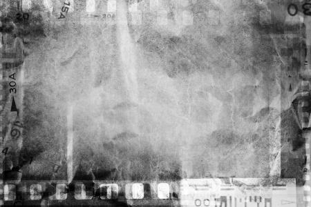 photographic effects: Film negative frames on grunge background  Stock Photo