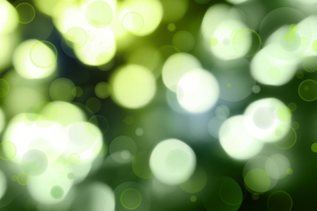 Abstract green glowing circles background  photo