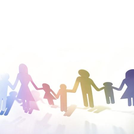 poup�e: Papier mains poup�e holding familiale