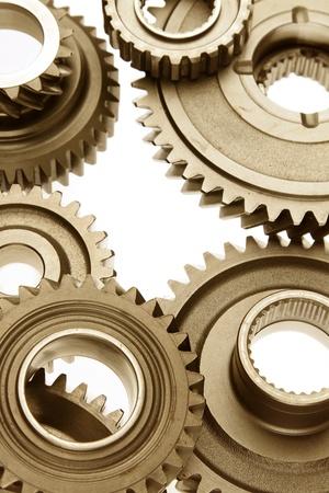 Closeup of metal cog gears Stock Photo - 15846249