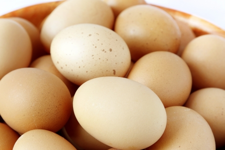 Closeup of hen eggs Stock Photo - 15877644