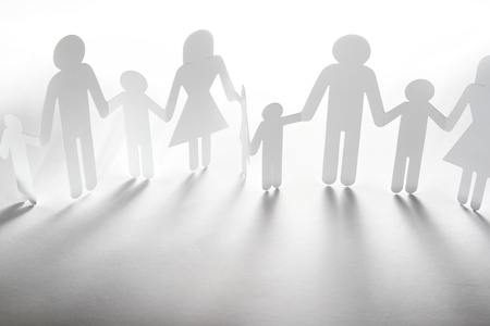 Paper doll family holding hands Stock Photo - 15877641