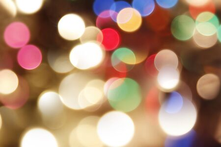 Blurry bright lights Christmas background photo