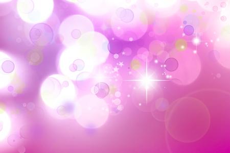 efectos especiales: Estrellas en el fondo de tono rosa