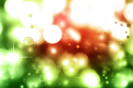 Stars on green and red tone background photo