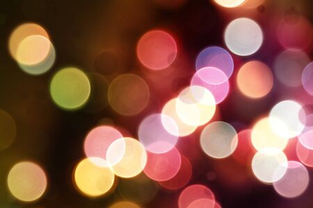 night lights: Colorful circles of light abstract background Stock Photo