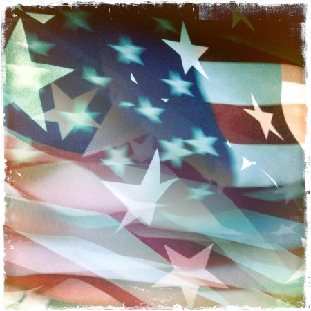 Stars and stripes American flag photo